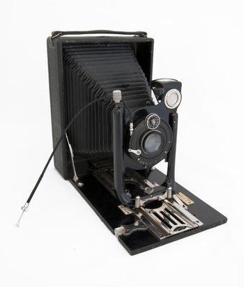 Authentic old black photo camera