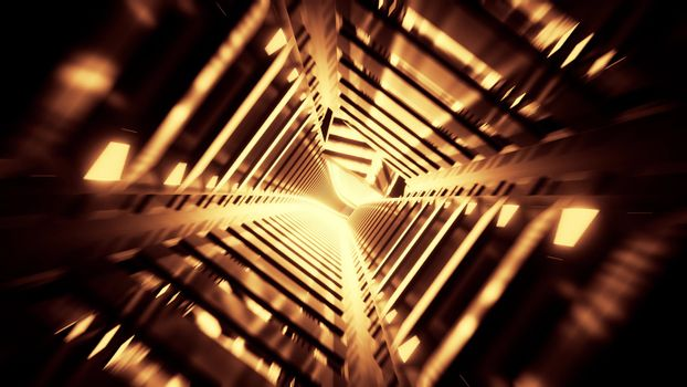 abwtract glowing futuristic scifi subway tunnel corridor 3d rendering wallpaper background design, modern abstract sci-fi art with glowing lights 3d illustration