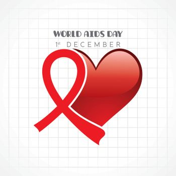 Aids Awareness greeting for World Aids Day - 1 December