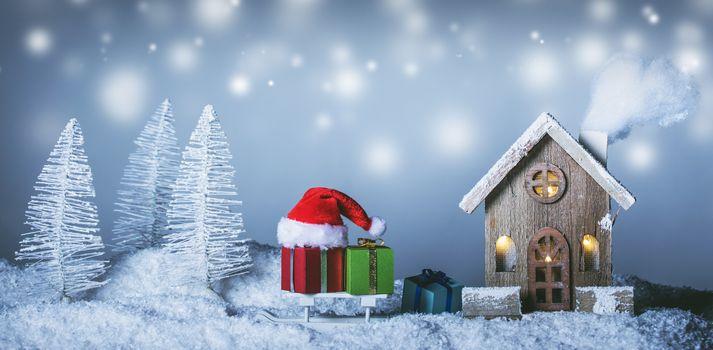 House and Christmas gifts