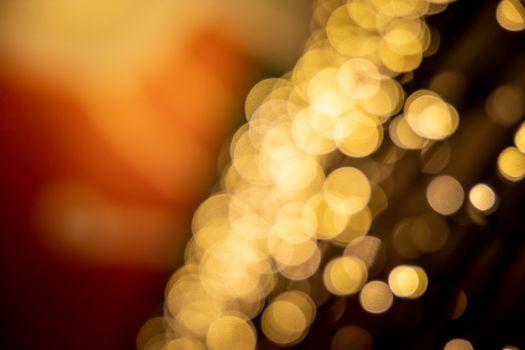 bokeh Christmas balls and Christmas tree