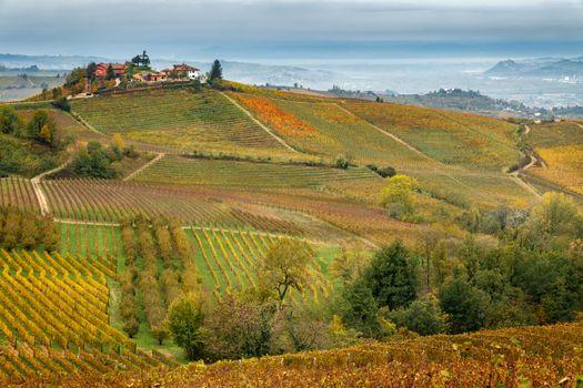 landscape in autumn in Piedmont zone
