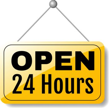Open Sign 24 Hours