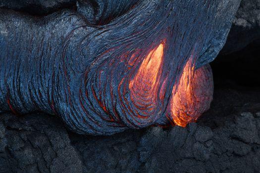 lava surface flow