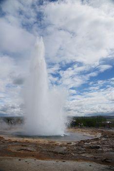 Strokkur geyser eruption in Iceland