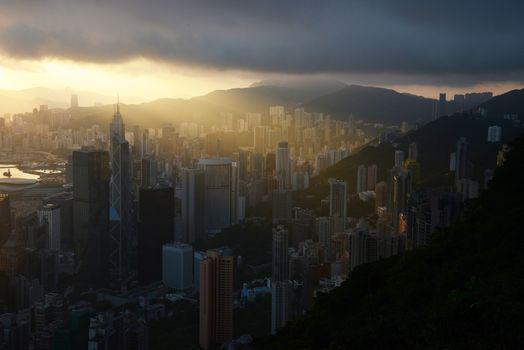 sunrise from the peak