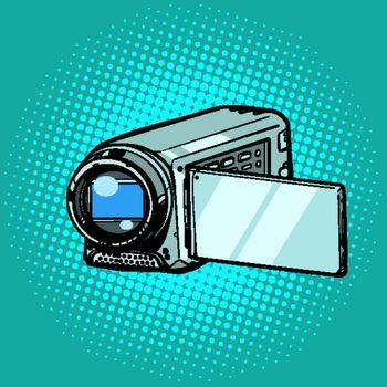 portable hand-held video camera