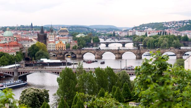 Prague bridges over Vltava