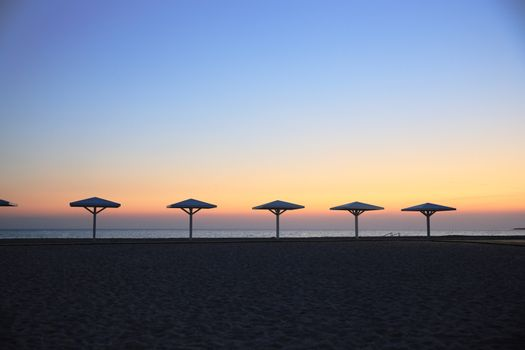 deserted evening beach