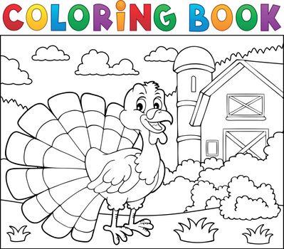 Coloring book turkey bird theme 2 - eps10 vector illustration.