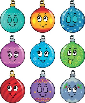 Happy Christmas ornaments theme image 2 - eps10 vector illustration.