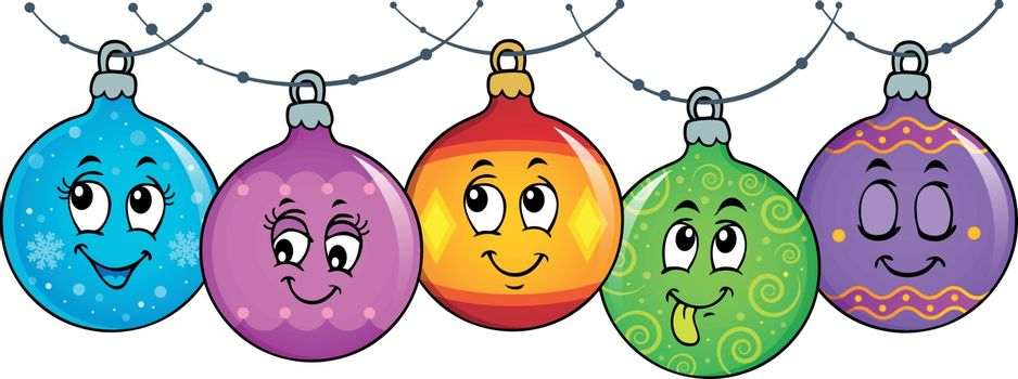 Happy Christmas ornaments theme image 3 - eps10 vector illustration.