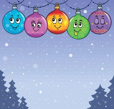 Happy Christmas ornaments theme image 5 - eps10 vector illustration.