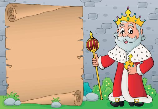 King topic parchment 5 - eps10 vector illustration.