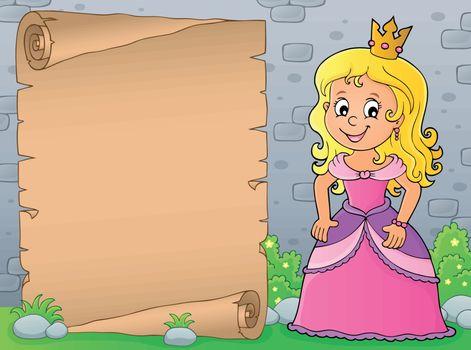 Princess topic parchment 4 - eps10 vector illustration.
