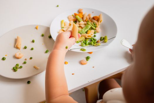 Self-sufficient babies to eat on their own are more independent.