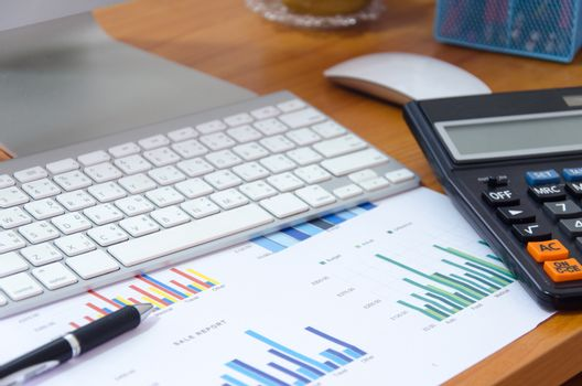 Business finance, accounting, statistics and analytic research concept