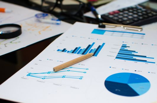 Business finance, accounting, statistics and analytic research concept.