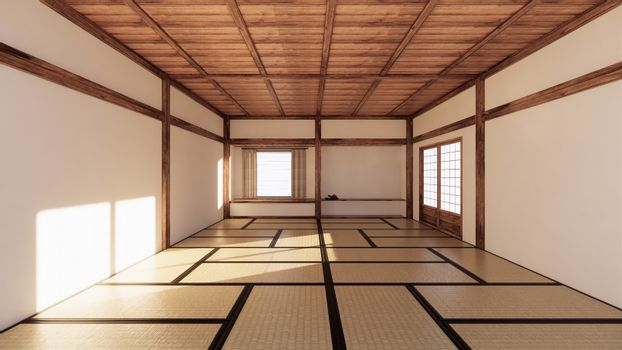 interior design,modern living room with tatami mat and tradition