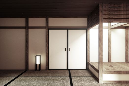 mock up, Japanese empty room tatami mat Designing the most beaut