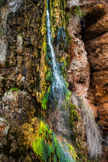 A refreshing flow of water from the top of the mountain at Wind Cave National Park