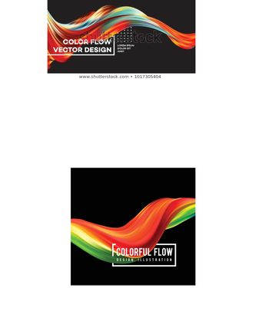 Colorful flow design. Trending wave liquid vector illustration on white