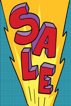 sale pop art background