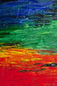 Abstract texture. Modern rainbow artwork background.