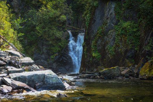 Kishte Waterfall at Lake Teletskoye