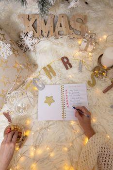 Writing a Christmas shopping list