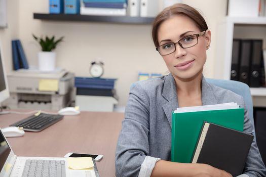 Nice office worker portrait