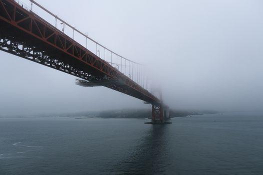 Marine Layer Engulfing Golden Gate Bridge