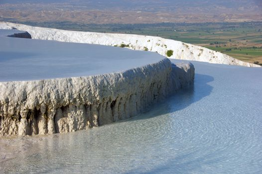 Pamukkale is a natural area and a tourist attraction of the southwest of Turkey