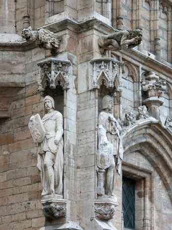 Architectural adornment of Brussels Town Hall