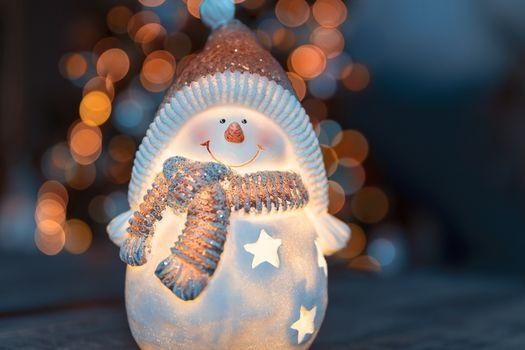 Little decorative snowman toy