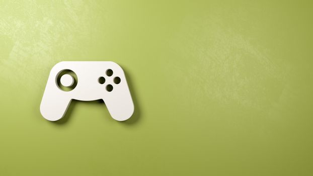 Gamepad Controller Symbol on the Wall