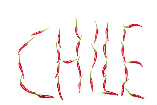 chile written in chilis