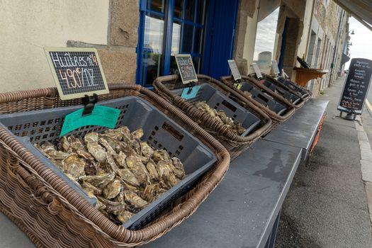 Healthy sea food in france sea shore vacation of Britanny trave