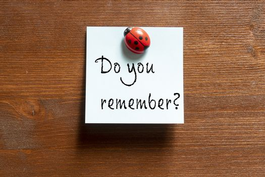 The phrase do you remember