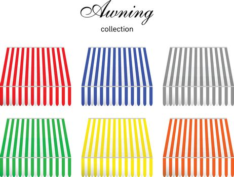 Striped awning collection in 6 color.