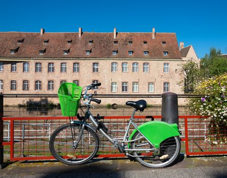 Bicycle parked in Strasbourg