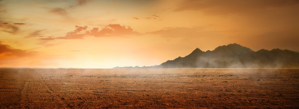 Desert and mountains