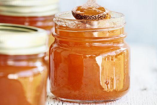 Three Jars of Homemade Cantaloupe Jam