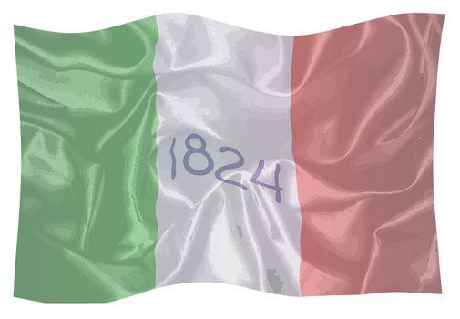 Alamo Silk Waving Flag