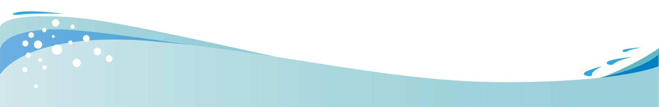 Wave And Bubbles Header And Footer Banner