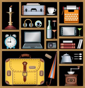 A set of vector elements of the household that may be needed in the journey