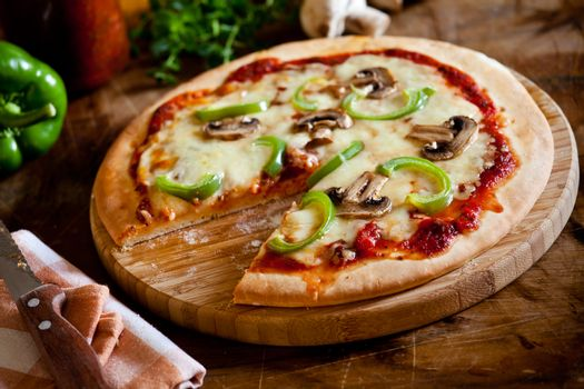 Homemade Pizza With Vegetables