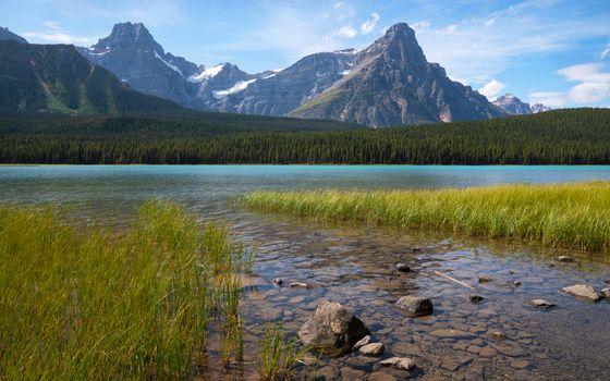 Waterfowl Lake, Icefield Parkway, Banff National Park, Alberta,