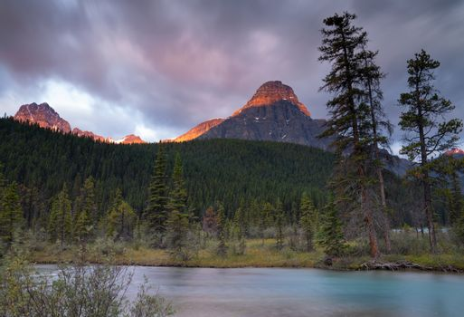 Waterfowl Lake, Banff National Park, Icefield Parkway, Alberta,