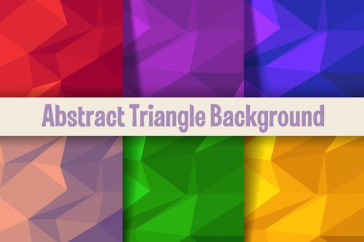 Triangle background of pattern of geometric elements